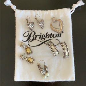 BRIGHTON BUNDLE 4 pair of earrings heart pendant